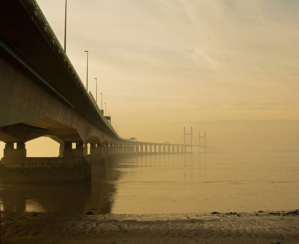 Second Severn Crossing on a Foggy Day by Janetdinah