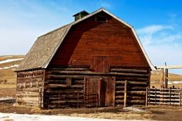 Historic old log barn