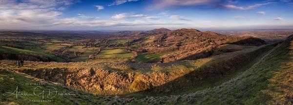 British Camp and the Malvern Hills by Tynnwrlluniau