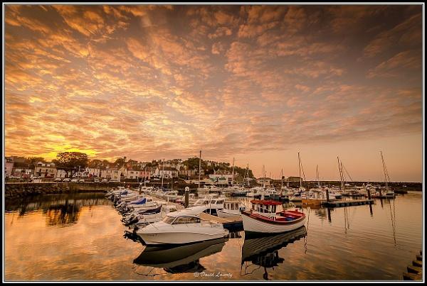 Sunset at Ballycastle Marina by DavidLaverty