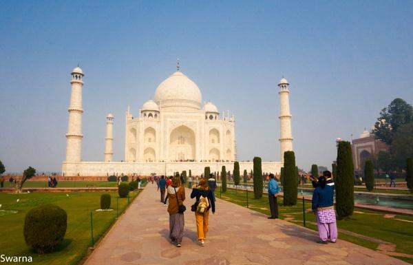 Tourist at Taj Mahal, India