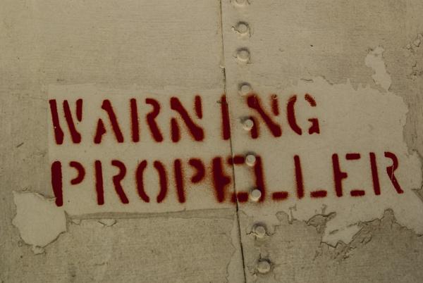Warning Propeller by saxtoda