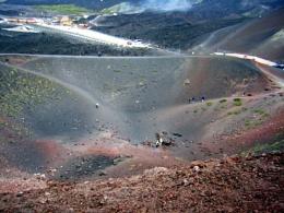 Mount Etna crater