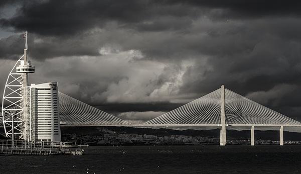 Vasco da Gama Bridge in Lisbon by DBoardman