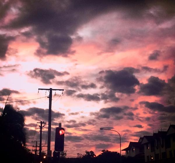 Sunset in summer by helenam
