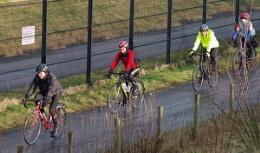 Sunday morning cyclists