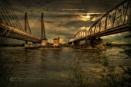2 Bridges in Moonlight. by colijohn