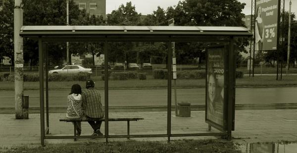 bus stop by Danas