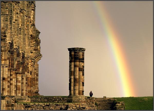 Whitby Abbey & Rainbow 2 by Otinkyad