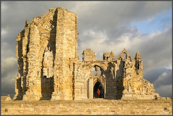 Evening Light on Whitby Abbey by Otinkyad