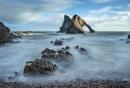 Misty rocks by Dallachy