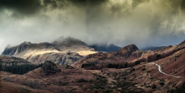 Clouds over the Langdales