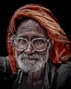 hindu pilgrim at Har-ki Pauri by sawsengee