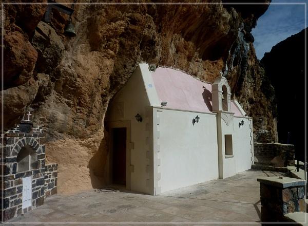 Agia Kiriaki church, Kourtaliotis gorge by CarolG