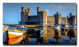 Caernarfon Castle Reflections