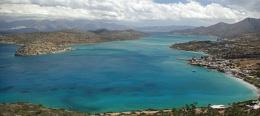 Plaka bay and Spinalonga, Crete