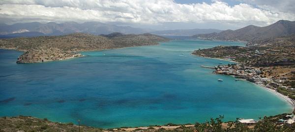 Plaka bay and Spinalonga, Crete by TonyDy