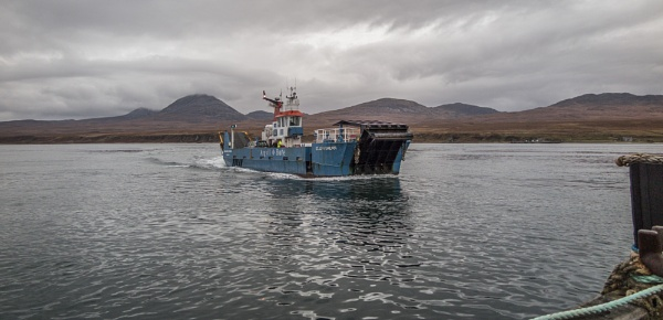 Islay to Jura Ferry by pink
