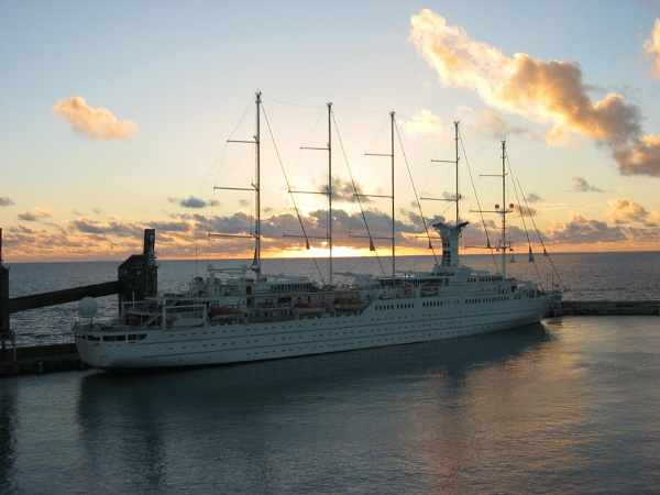 Star Clipper at Sunset by voyger1010