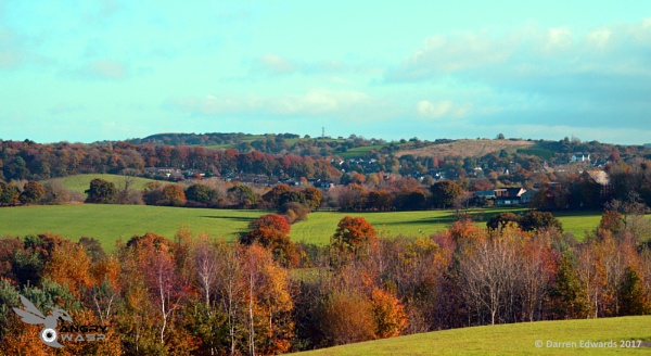 Autumn View of Whittle Le Woods by darrencedwards