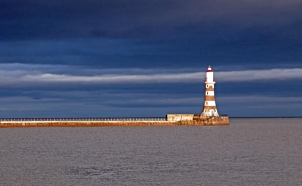 Storm near Roker Lighthouse by Janetdinah