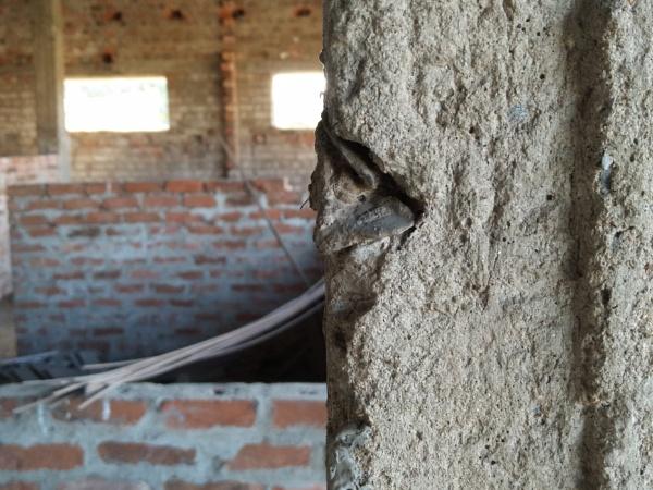 Destructive placem,construction site,broken pillerss,walls by vinaysingh