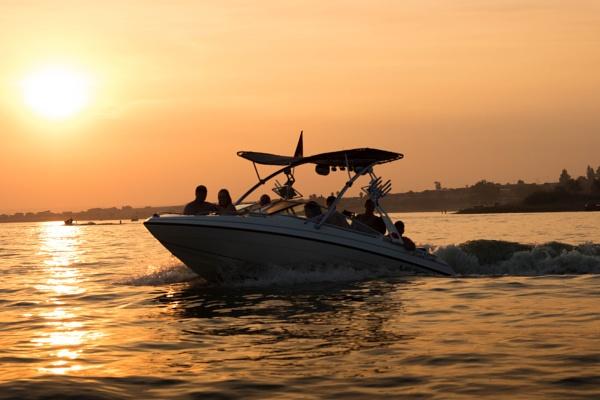 Sunset Boating by JenduPreez
