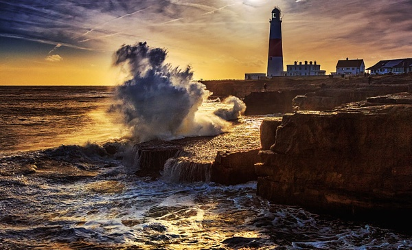 Storm Doris vr\'s Portland Bill by Pricey