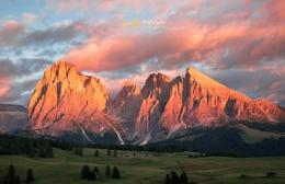 Last Light at Val Gardena, Dolomites, Italy