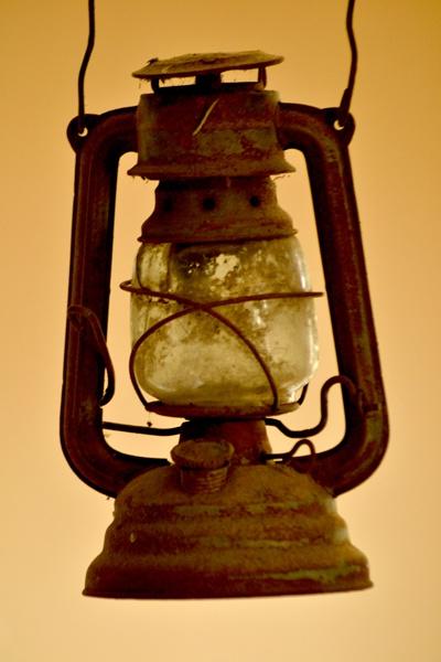 hurricane lamp by Laslo
