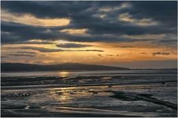 Sunset at Wirral, Merseyside last night