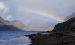rainbow over Skye