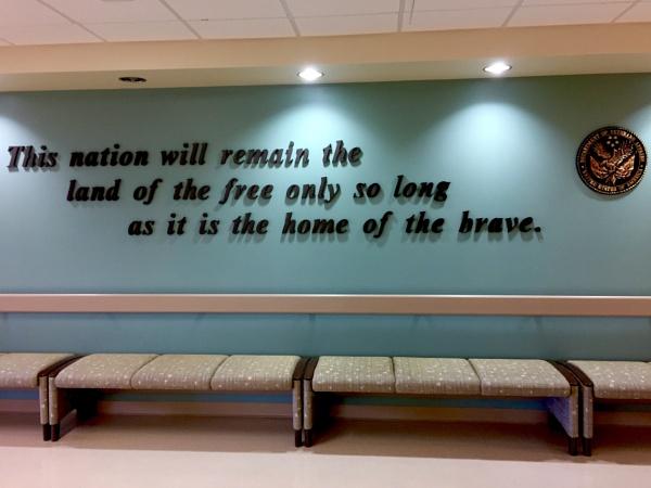 Lobby at Gainesville, FL VA Hospital by Bray