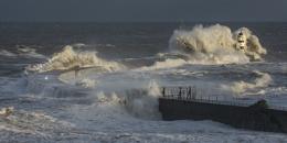 Spring high tide at Seaham