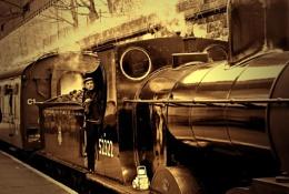 Steam in sepia