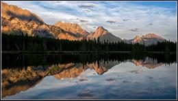 Sundown on Spray Lakes