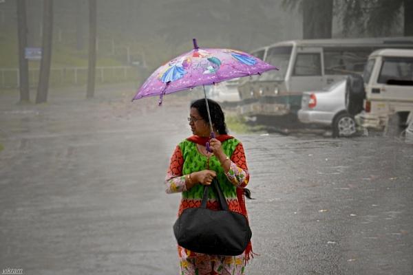 A lady in the rain by Bantu