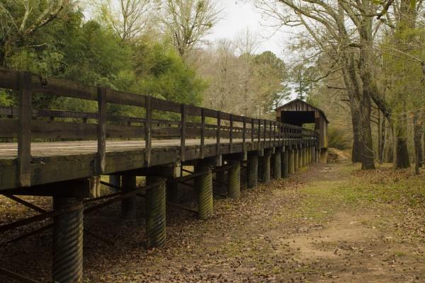 Red Oak Creek Covered Bridge by ThomasVasasPhotography