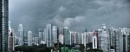 Singapore skyline before the storm by StevenBest