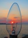 Sunset throug a lamp. by bulbulov