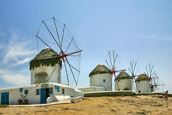 Wednesday Windmills of Mykonos by PatriciaWilson