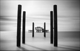 Brighton West Pier - B&W version