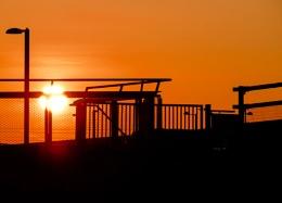 Sunrise over Stratford....