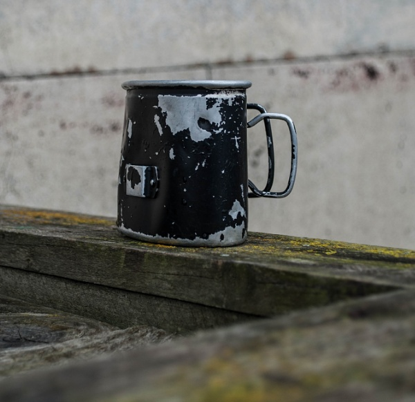 Tin Mug by CharlotteHardy