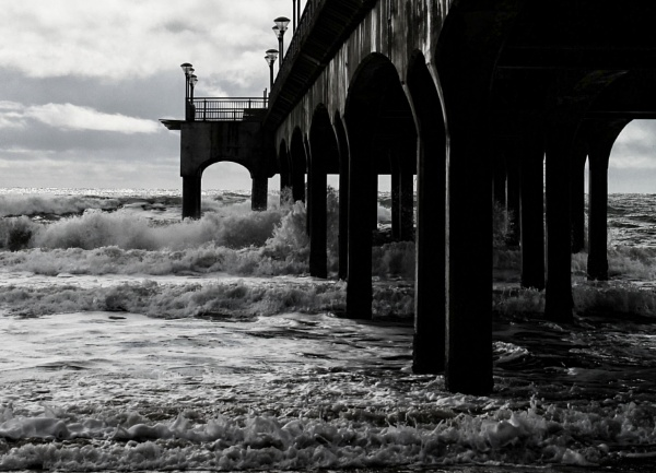Pier Waves by RickNash