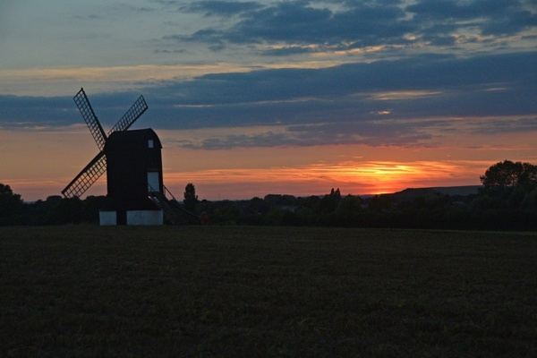 Pistone Mill in Sunset by peterthowe