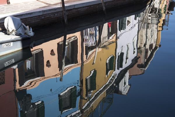 Burano, Venice, Italy. Reflections. by jon07wilson