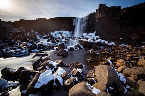 Oxararfoss, Iceland. by jackknottphoto