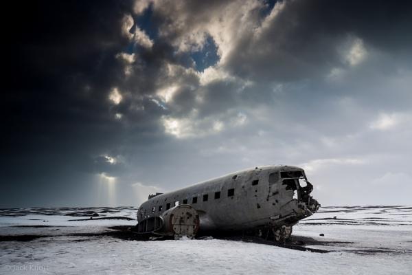 U.S. Navy Plane Wreck at Solheimasandur by jackknottphoto