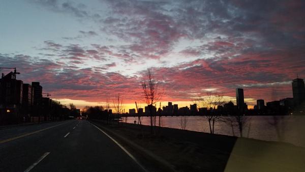 Cambridge Boston dawn by jmotzkin